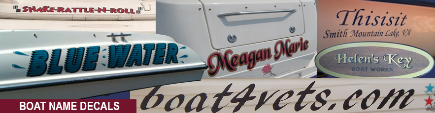 Boat Name Decals